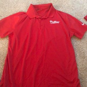 Red Nike golf polo